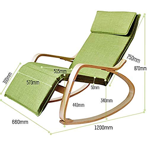Ligstoel, verstelbare voetensteun en verwijderbare kussens, draagbare gewatteerde ligstoel voor terras in de buitenlucht