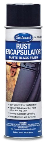 Eastwood Black Rust Encapsulator Aerosol 15 Ounce Heat Sunlight Resistance Fast Cure Durable Low VOC Formula