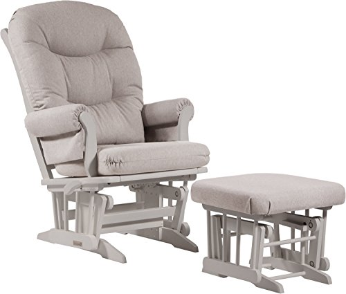 Dutailier Sleigh 0393 Glider Multiposition-Lock Recline with Nursing Ottoman Included