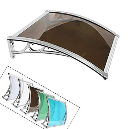 WXQ Eingangstür EIN Überdach Vordächer Haustür Türdach Pultbogenvordach Überdachung Haustür Überdachung Haustürvordach Pultvordach (Color : Brown, Size : 60cmx120cm)