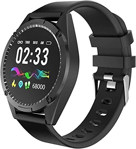 Reloj inteligente para hombre, presión arterial, pulsera impermeable, reloj inteligente para mujer, pantalla a color, Android IOS Smartwatch (color morado)