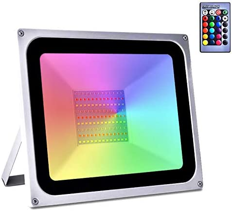Ankishi 100W RGB Led Today's only Flood Light Colors Control 16 with Remote 4 Austin Mall