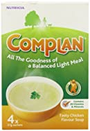 Chicken flavour vitamin and mineral fortified soup mix Contains skimmed milk and vegetable oil Suitable for vegetarians