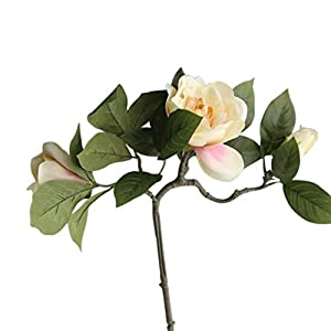 DUO ER Gardenia Simulation Flower Silk Cloth Artificial Flowers Real-Look Wedding Home Decoration (Color : 1)