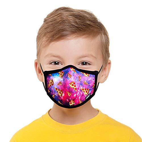 Odd Masks, Kids, Graphic, Space Pizza, Designer Face Mask, Reusable Breathable Fashion