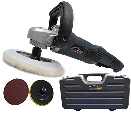 PowerStorm® Polisseuse/ Lustreuse de voiture avec Etui et 3 Têtes de polissage de voiture B Brand change to:PowerStorm®