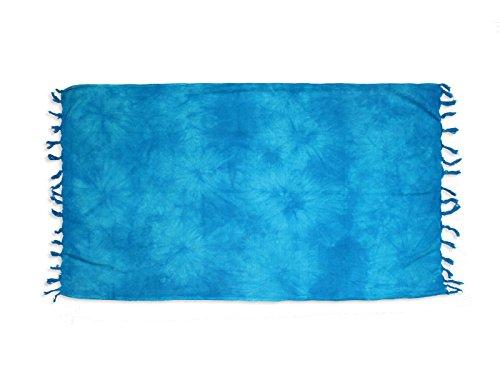 Soleil d'ocre FUTA de algodón 80x150 cm Tie and Dye Turquesa