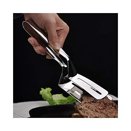 SKJZLLL BBQ Clamps 304 Edelstahl Steak Turners Küche Braten Schaufeln Spachtel Lebensmittel Zange Brot Clip abgefeuert Grillzubehör