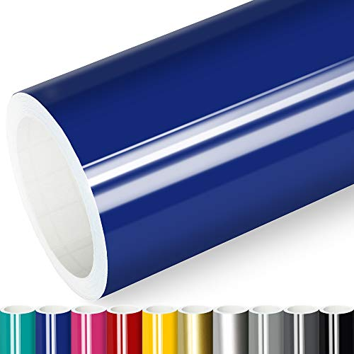 Actinium® Klebefolie 6€/m² Blau Glanz | 5m x 0,63m selbstklebende Folie glänzend | Möbelfolie selbstklebend Küchenfolie Plotterfolie