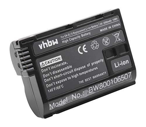 vhbw Batería Recargable Compatible con Nikon Z6, Z6 II, Z7, Z7 II cámara Digital, DSLR (2000 mAh, 7 V, Li-Ion) - Chip informativo