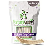 Nature Gnaws Antlers for Dogs - Premium Natural Deer and Elk Antler Chews - Long Lasting Dog Chews for Aggressive Chewers - Mix of Split and Whole (8 oz)
