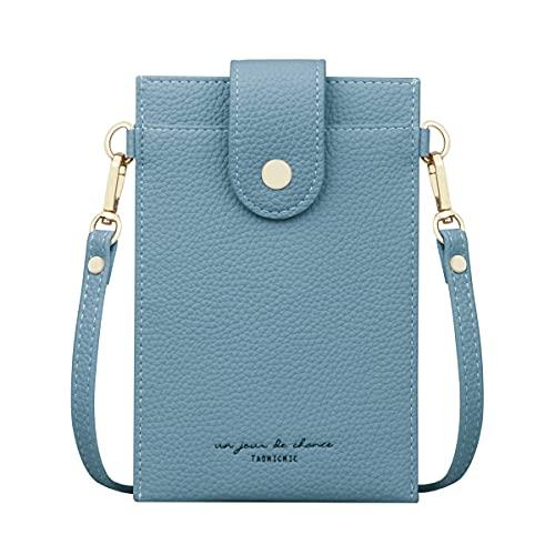 Bolso de mano para mujer, pequeño, multifuncional, para el teléfono móvil, bolso de hombro con muchos compartimentos y tarjetero, bolso cruzado para mujer