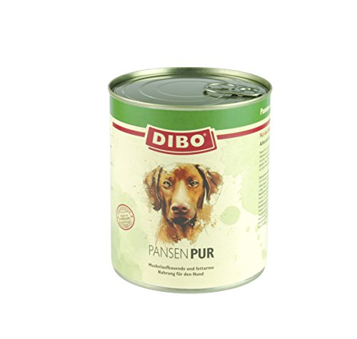 DIBO – PUR PANSEN (Pansen/Blättermagen), 800g-Dose, reine Fleischdosen aus frischem und natürlichem Fleisch! DIBO-Qualität