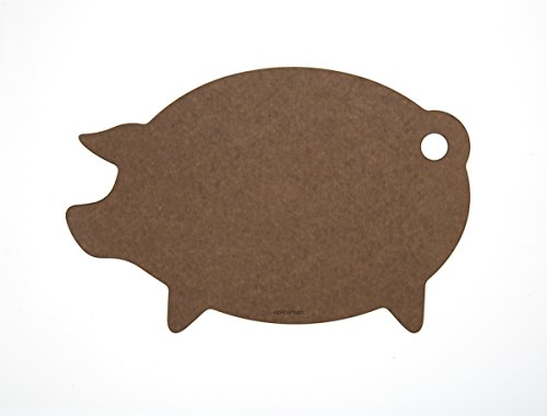 Epicurean Cutting Surfaces Novelty Series Cutting Board, Pig, Nutmeg
