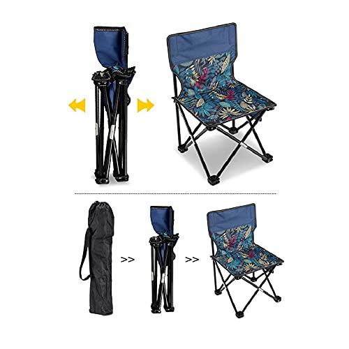 Sedia pieghevole da campeggio, leggera e portatile con contenitore, adatta per esterni, viaggi, barbecue, giardino, luce e portatile