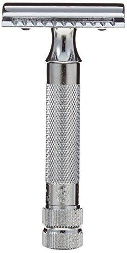 メルクールMERKUR(独)髭剃り 334C (ひげそり) 両刃ホルダー (替刃10+1枚付、プラケース入り)