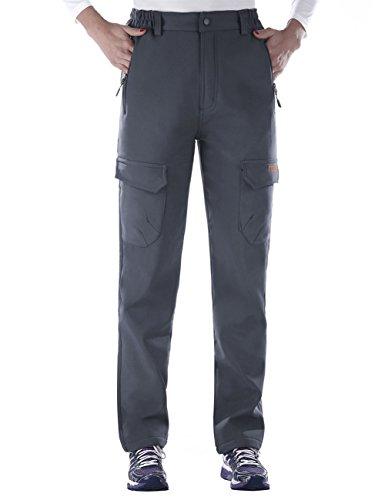 Nonwe Women's Warm Water-Resistant Workouts Fleece Climbing Sweat Pants Gray1 S/30 Inseam