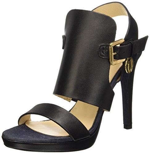 Trussardi Jeans 79S00249, Sandali a Punta Aperta Donna, Nero (19 Nero), 39