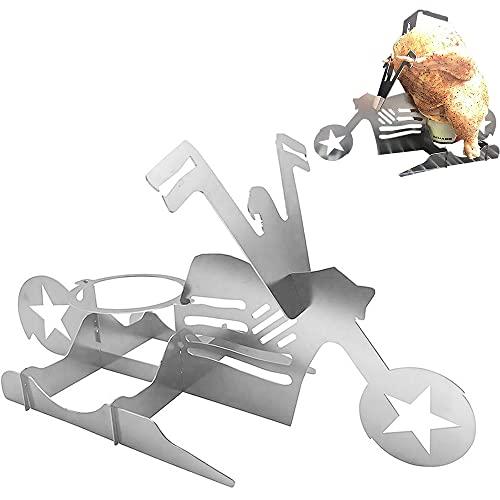 Porta Pollo BBQ Moto,Speyang Chicken Roaster Rack,Beer Can Chicken Supporto,Pollo Alla Birra BBQ,Supporto per Pollo Alla Birra Barbecue,American BBQ Grill Tools,Accessori Barbecue,Acciaio Inossidabile