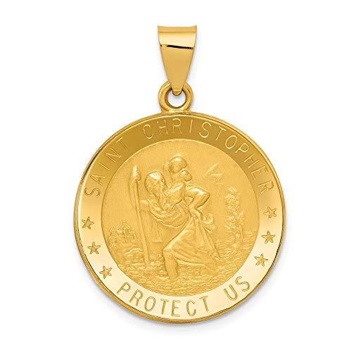 Jewels By Lux 14K Pendentif Médaille Saint Christophe
