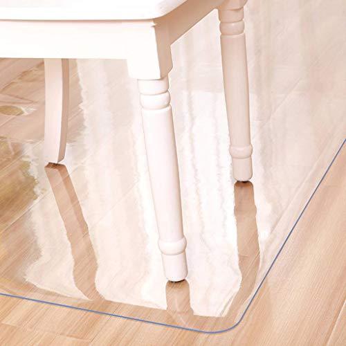 SINKITA Vinyl vloerbeschermingsmat voor harde vloeren, transparant kunststof, helder onderlegmat, tapijt, PVC, bureaustoelmat voor binnen en harde vloeren, antislip