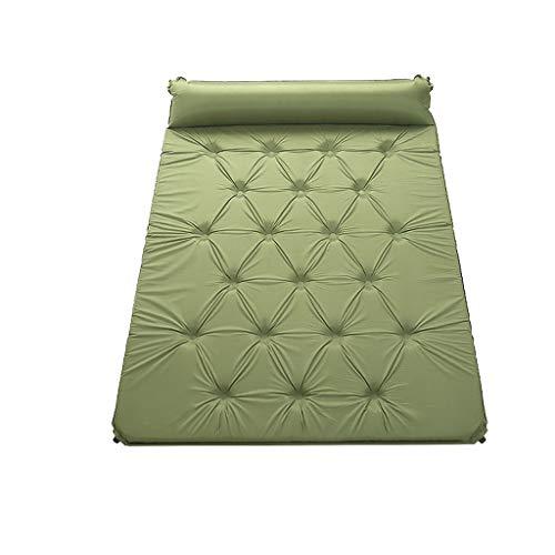 Coussin Gonflable Automatique Double Coussin D'humidité Ultra Léger en Plein Air Camping Tente Dormir Pad Adventure Hiker Loisirs Tapis FANJIANI (Color : Green)