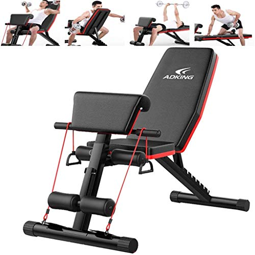 Mosunx Home Gym Adjustable Weight Bench Workout Bench, Adjustable Sit Up Incline Abs Benchs Flat Fly Weight Press Fitness (Adjustable Set A, Black)