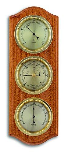 TFA 20.1076.01B Station météorologique analogique d'intérieur à 3 Cadrans Chêne