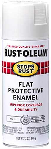 Rust-Oleum 7790830 Stops Rust Spray Paint, 12-Ounce, Flat White