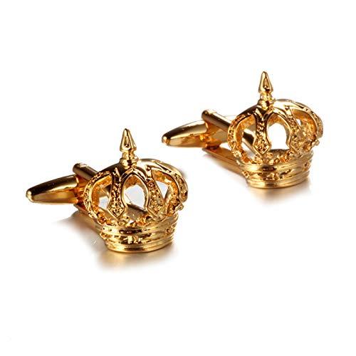 Daesar Gemelli da Polso Gemelli Camicia Uomo Corona Gemelli Oro Giallo
