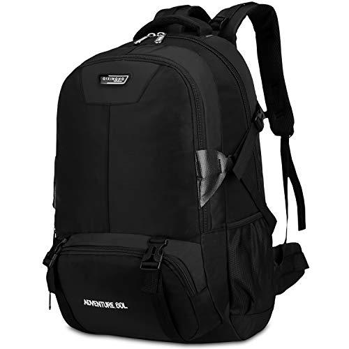 Bioasis Trekkingrucksack, Ultraleicht Wasserdicht Wanderrucksack Backpacker-Rucksack Reiserucksack Bergsteigtasche für Wandern, Bergsteigen, Reisen, Camping, Sport (Schwarz)