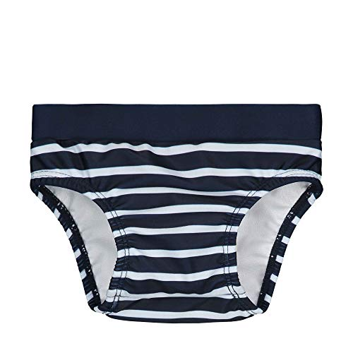 Steiff Baby-Jungen Schwimmwindel, Blau (Black Iris 3032), 74 (Herstellergröße: 074)