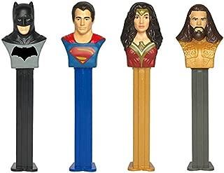 PEZ Candy DC Comics Justice League Assortment Blister Pack (Dispenser Pack of 12)