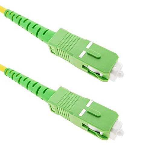 Cablematic FL33 - Cable de Fibra óptica (SC/APC a SC/APC monomodo simplex 9/125 de sección 3.0 mm, Longitud 2 m)