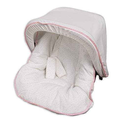 Babyline Colchoneta Grupo 0 Con Capota Y Cubre Arnés Dolce Rosa - Colchoneta para silla de paseo, niñas