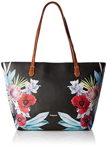Desigual Bag Oima Capri Zipper Women - Borse a spalla Donna, Nero (Negro), 13x28x30 cm (B x H T)