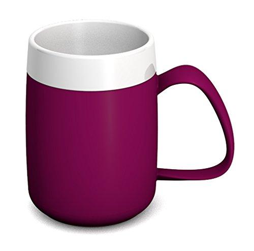 Ornamin Thermobecher 260 ml brombeer (Modell 206) / Isolierbecher, doppelwandiger Kaffeebecher Kunststoff