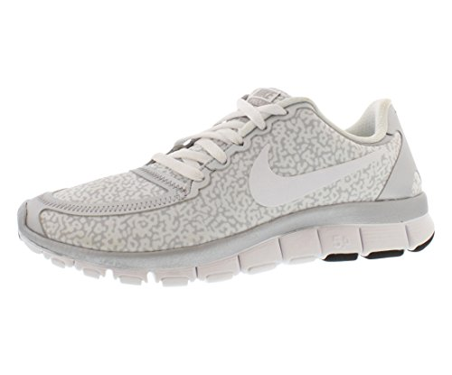 new arrival 3b3f1 3bff9 Women s Nike Free 5.0 V4 Running Shoes White/Silver 511281 ...