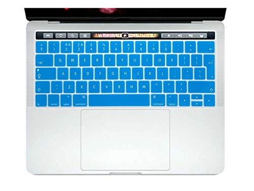 Durable keyboard stickers English EU Silicone Keyboard Cover Skin Protector For Mac NewPro 13' A1706 A2159 Pro 15' A1707 With Touch Bar 2017/2018/2019 Keyboard accessories (Color : Turquoise)