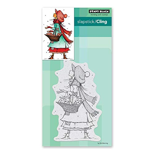 penny black cling stamp, Gray