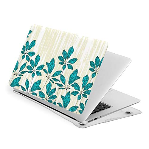 Air 13 inch Case,Winter Leaves Pale Yellow And Turquoise Ultra Slim Hard Shell Protective Case,Laptop Hard Shell Cover Protective (Model A1466 A1369, Size 32.9 x 23.1cm)