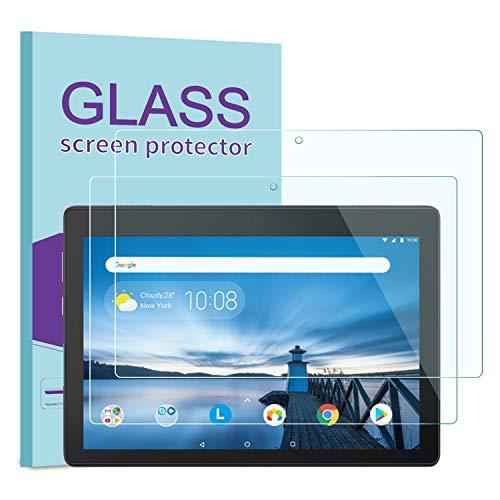 KATIAN [2 Pack] Lenovo Tab E10 Protector de Pantalla, 9H Dureza [Alta Definicion] [Fácil de Instalar] Cristal Vidrio Templado Film para Lenovo Tab E10 (TB-X104F)