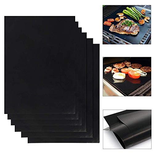Barbecue Grill Mat Set de 3 Pack Non Stick Pad pour gaz Easy Bake Cook Grille Cover