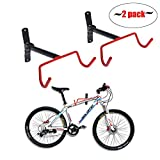Auwey 2pcs Bike Wall Mount Hanger Bike Indoor Storage Rack, Foldable Bicycle Hook for Garage Bicycle Wall Holder