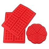 Tebery 2 Stil Silikon Waffeln Backform Schokoladenform Kuchenform Waffelform Eiswürfelform