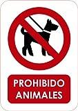 Oedim Señaletica señal de Prohibido Animales 14,8x21cm | Señaletica en Material PVC Resistente de 3mm