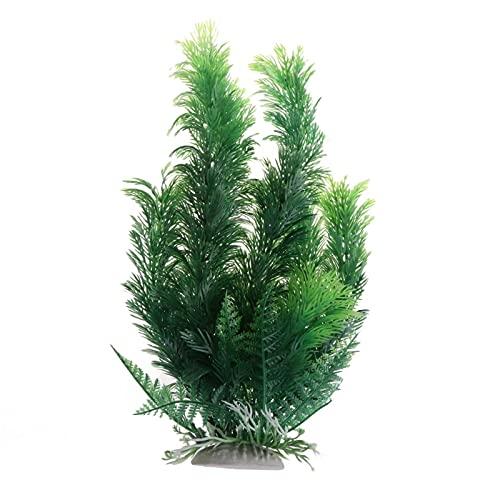 PPuujia Decoración de pecera, planta acuática, artificial de alta simulación, acuario, paisaje (color: verde, tamaño: M)