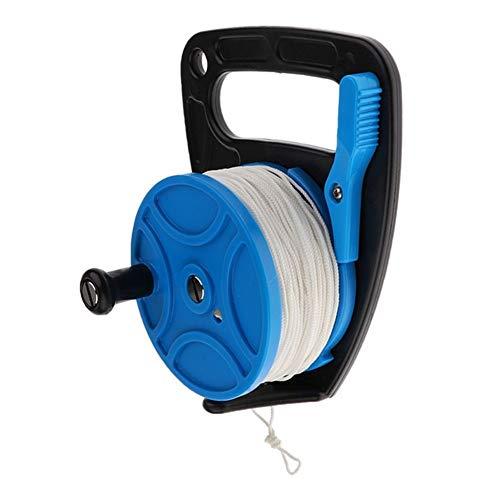 fried Zubehör Unterwasser-Taucherschnur mit Kunststoffgriff, Rad aus Gummi (Farbe: Blau)