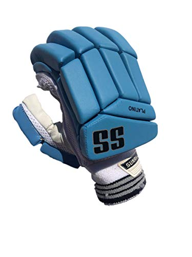 SS Cricket Platino Batting Gloves' Men's (Right Handed), Royal Blue Edition