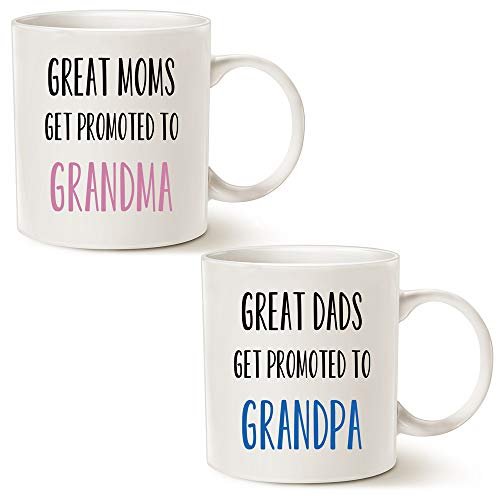 This Might be Wine Funny Grandparent Set of 2 Coffee Mugs, Great Moms/Dads...